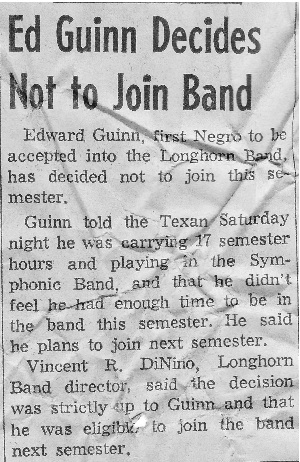 Ed Guinn declines band membership